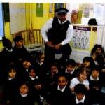Lyonsdown School children meet Police officer