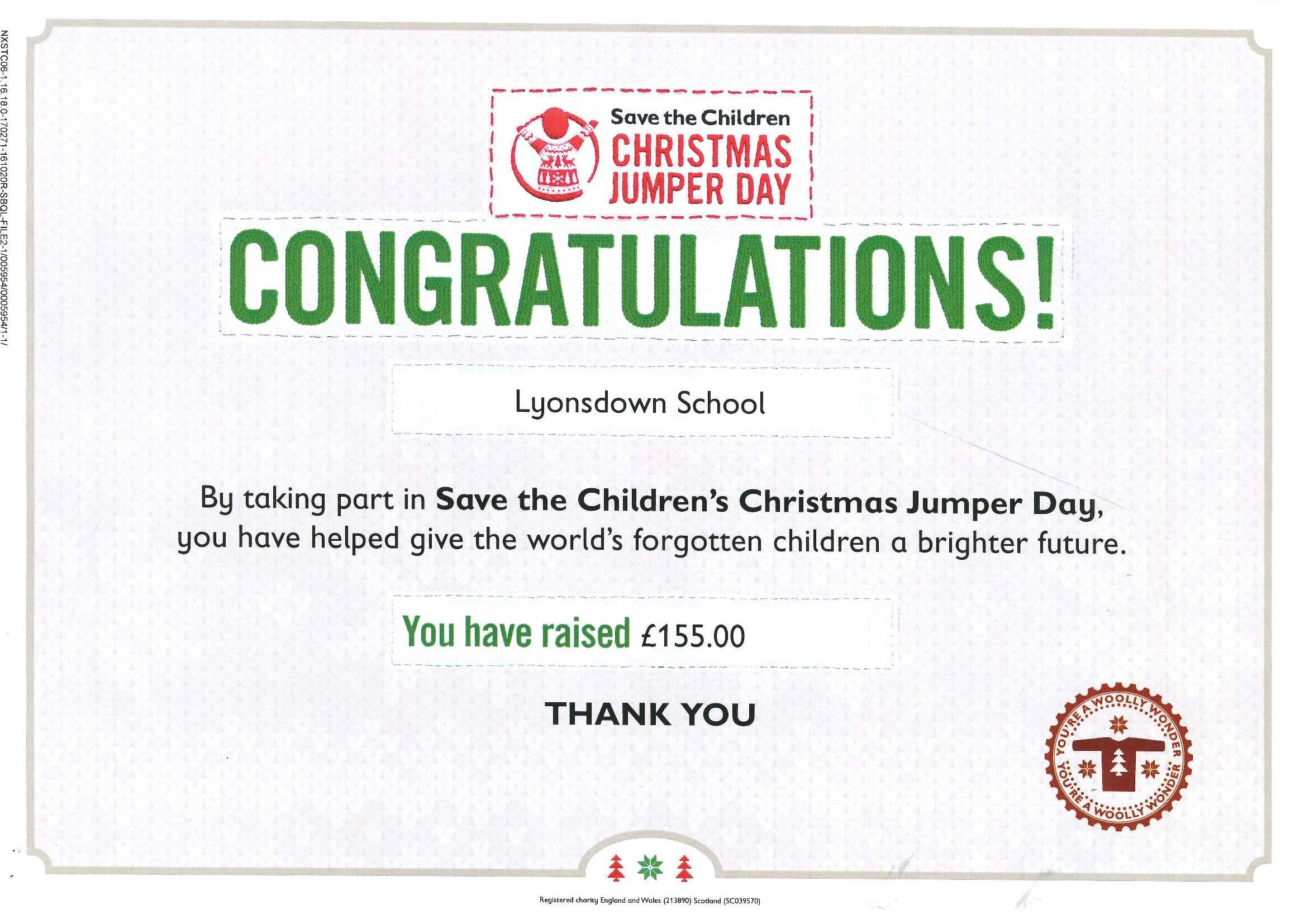 Save the Childrens' Christmas Jumper Day   Lyonsdown School